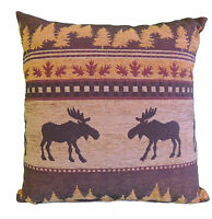 Rustic Frontier Moose (brown) Pillow 20x20 Cabin Lodge