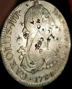 1784 plata española 8 reales moneda Antigua Colonial 1784