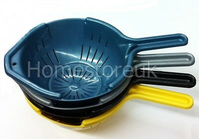 COLANDER FILTER STRAINER FOOD VEGETABLE DRY DRAINER ROUND WITH HANDLE PLASTIC