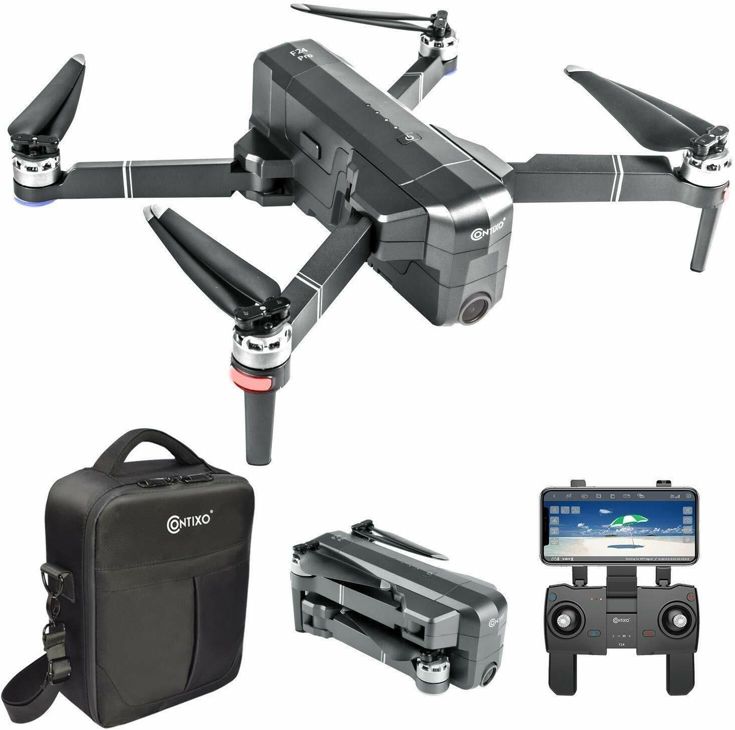 [NEW] Contixo F24-Pro FPV Drones with 4K UHD Camera GPS RC Quadcopter Follow Me