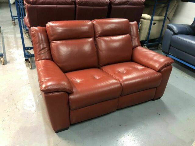 Cressida Nude Leather 3 2 Seat Electric Reclining Sofas For Sale