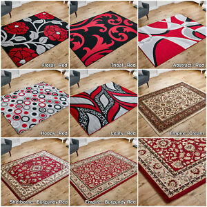 LOW-PRICE-SALE-NEW-LARGE-TRADITIONAL-BURGUNDY-RED-GREY-MODERN-QUALITY-RUG-RUNNER