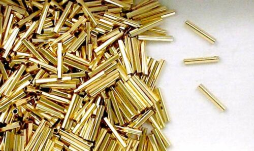 14k Gold Filled 1x10mm Pentagon Tube Spacer Beads Choice of Lot Size