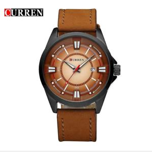 Curren-8155D-3-Brown-Black-Brown-Leather-Strap-Watch
