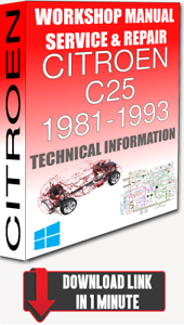 Cool Service Workshop Manual Repair Citroen C25 1981 1993 Wiring For Wiring 101 Capemaxxcnl