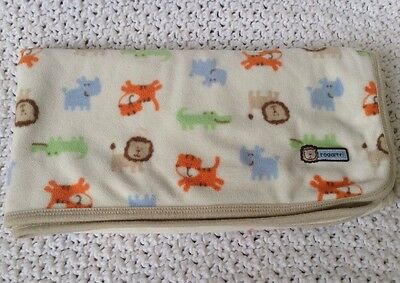 "Purposeful Carters Fleece Jungle Animal Roaarrr Lion Tiger Gator Rhino Blanket 28"" X 30"" For Sale Baby"