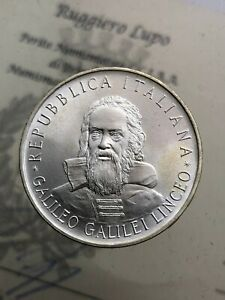 500-Livre-Galileo-Galilei-1982-FDC-der-Republik-Italienisch-Gedenkmuenzen