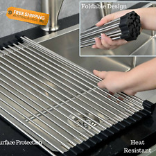Merveilleux Item 3 NEW Roll Up Kitchen Sink Drainer Stainless Steel Food Dish Drying  Rack Tray Mat  NEW Roll Up Kitchen Sink Drainer Stainless Steel Food Dish  Drying ...