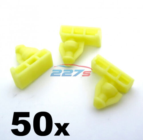 Wing moulding clip 50x Wheel arch surround trim clips for Nissan Juke /& X-Trail