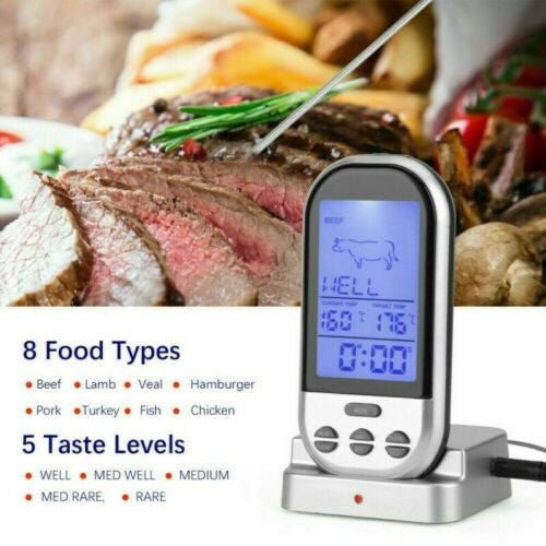 DHL Digital Grillthermometer Fleischthermometer BBQ Thermometer Funk Wireless