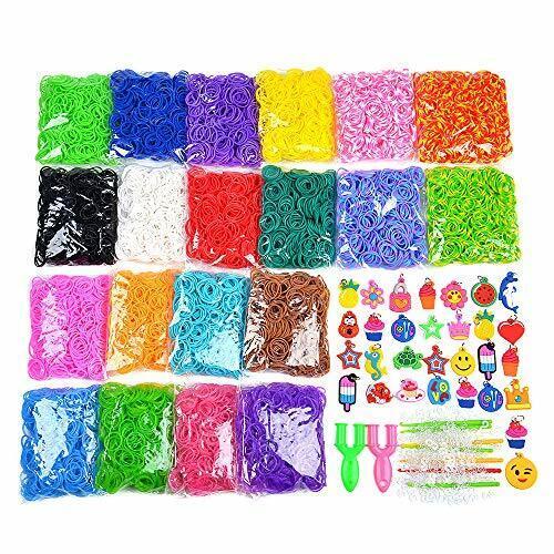 9200 8400+ Wonder Loom Rubber bands Refill Bracelet D I Y Set For Kids Include