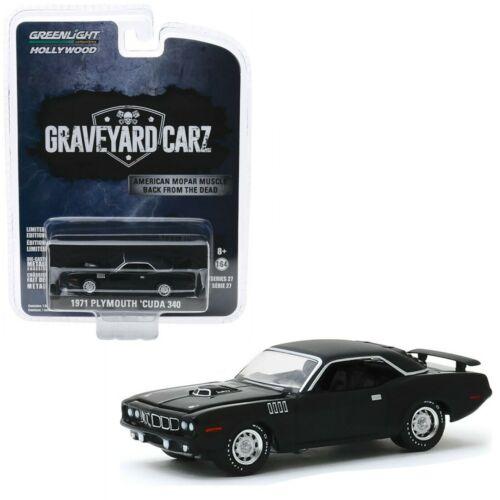 1971 Plymouth Cuda 340 Black GRAVEYARD CARZ  Mopar *** Greenlight 1:64 NEU