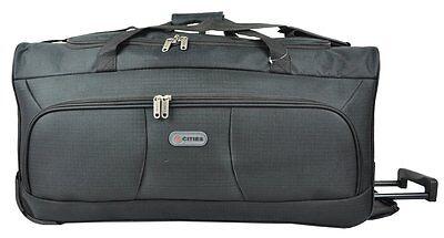 "Extra Large 30"" Lightweight Strong Wheeled Holdall,Case Luggage Bag (BLACK)"