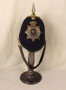 Victorian-Worcestershire-Regiment-Spiked-Black-Cloth-Spikehelmet