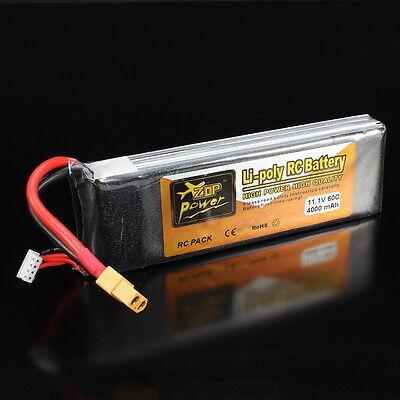 ZOP Power 11.1V 4000mAh 3S 60C Lipo Battery XT60 Plug