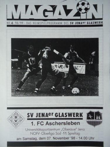 Programm 1998//99 SV JENAer Glaswerk Aschersleben