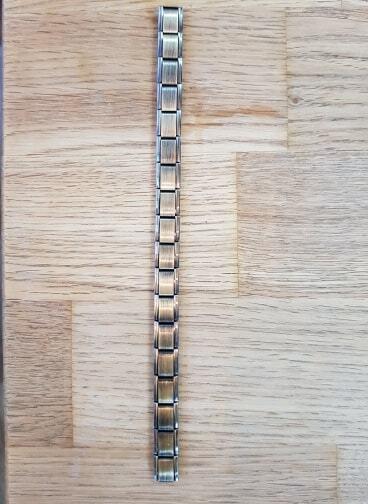 Italian Charm Bracelets 18 Link Bronze Finish