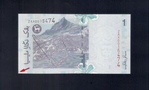 Malaysia RM1 Zeti Replacement ZAA  (Choice UNC)