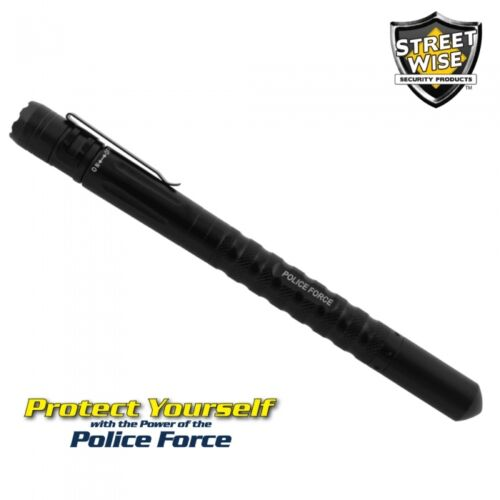 Police Force TACTICAL Writing PEN w//LED Light With Free Holster