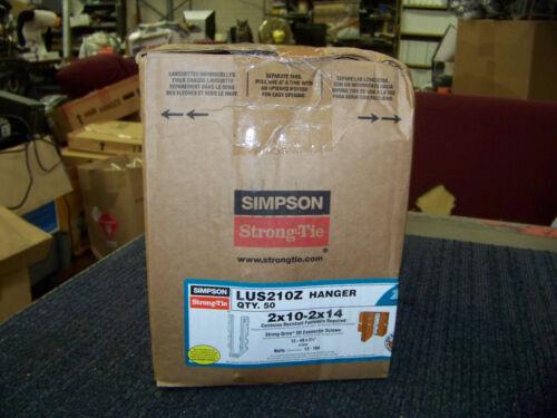 LUS210Z New Simpson Strong-Tie Hanger 2 X 10-2 X 14 Corrosion Resistant 50 ea