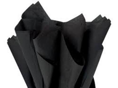 "12 SHEETS~BLACK//WHITE STRIPE~ /&~BLACK TISSUE PAPER~GIFT WRAP-20/""x30/"" 6 Ea SHEETS"