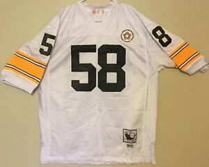 buy popular 13c91 658bf Details about NWT Mitchell & Ness '75 Pittsburgh Steelers Jack Lambert  Throwback jersey, 50