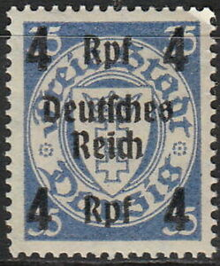Stamp-Germany-Mi-717-1939-WW2-Reich-Danzig-Empire-Port-Poland-Overprint-MH