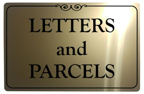 LETTERS and PARCELS Metal Aluminium Plaque Sign Front Door For House Office Gate