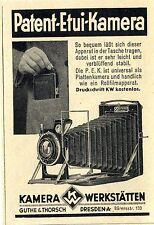 Kamera Wekstätten Guthe & Torsch Dresden Patent- Etui- Kamera Annonce 1929