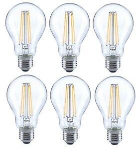6er-trendlights-DEL-DEL-Lampe-a60-6w-60w-806-lm-e27-2700k-Ampoule-Verre-Claire-EEK-Bon-etat