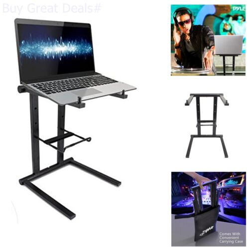 Universal DJ Laptop Stand With Accessory Tray Pyle PLPTS35  New
