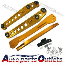 For 1996-2000 Civic EK GOLD Rear Lower Control Arm Subframe Brace Tie Bar