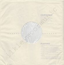 "Vintage INNER SLEEVE or SLEEVES 12"" HANDLING and PLAYING poly-lined v5 x 2"