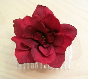 Full 25 red apple blossom silk flower hair combromantic pin up image is loading full 2 5 034 red apple blossom silk mightylinksfo