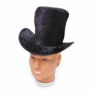 c5229026be5 OLD ENGLAND BLACK VICTORIAN VELVET TALL TOP HAT - childs fancy dress ...