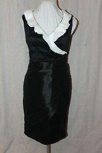 NWT-Size-6-Black-ivory-Mon-Cheri-Social-Occasions-114822-short-sleeveless-dress