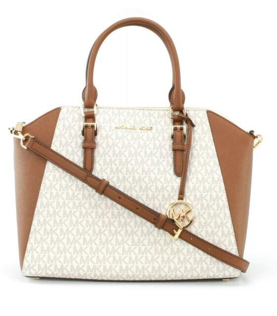 Michael Kors Bag Handbag Ciara LG Satchel Braun 35S9GC6S3B