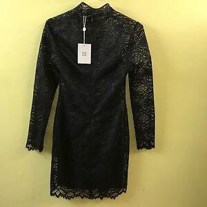 Details About Wayf Womens Monroe Lace Shift Dress 9676wch L34 Black Medium