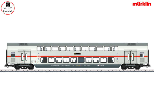 Klasse DB AG mit Innenbeleuchtung #NEU OVP# Märklin 43482 IC-Doppelstockwagen 2