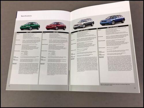 1999 Audi 36-page Original Car Sales Brochure A4 A6 A8 quattro avant
