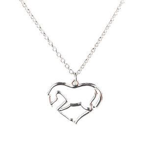 Fashion-Jewelry-Animal-Horse-Zinc-Alloy-Chain-Pendant-Necklace-for-Men-Women-TB