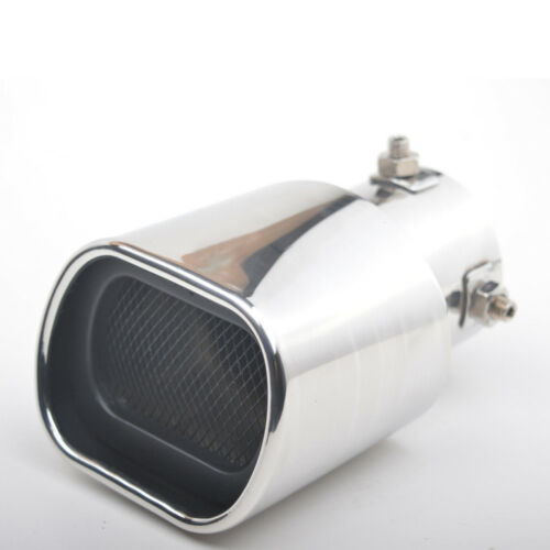 1X 63mm Stainless Steel Bright light Car Muffler Straight Exhaust End Tail Pipe