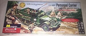 Monogram US Army M3A1 Personnel Carrier SSP 1/35 model kit new 0035
