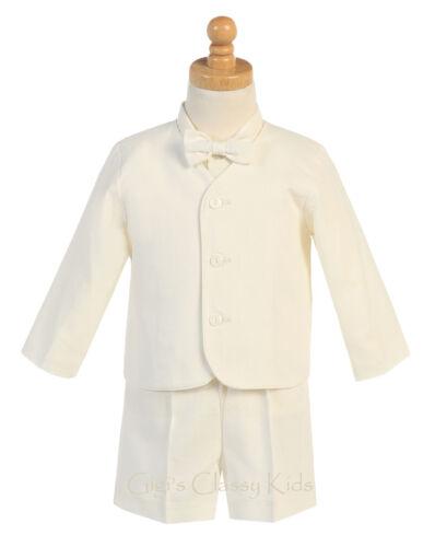 New Boys Eton Suit Set Shorts Rayon Linen Wedding Easter Birthday Party G828