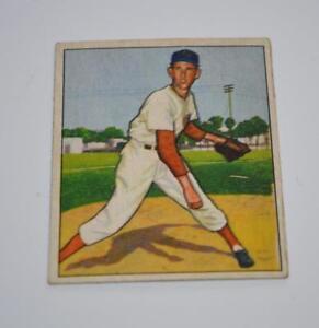 Details About Vintage 1950 Bowman Baseball Card Ewell Blackwell 63 63 Cincinnati Reds