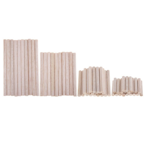 Natural Unfinished Round Balsa Wood Stick Rod Block for DIY Craft Ornament