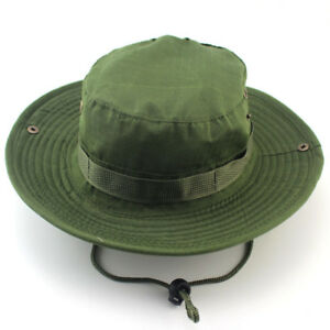 Bucket Hat Boonie Hunting Fishing Outdoor Sun Cap Washed Canvas Unisex Fast US