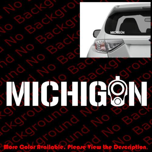 MICHIGAN COLT 1911 Barrel Sticker Car Window Decal Vinyl 2A CCW Gun Rights FA050