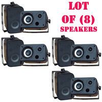 Lot Of (8) Pylehome Pdwr30b 3.5'' Indoor/outdoor Waterproof Speakers (black) on sale