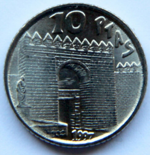 MINT ROLL SPAIN JUAN CARLOS I 10 PESETAS 1997 KM-982 SENECA